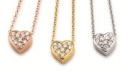 41 7940 191 | Chain with Brillant heart | Lieferbar 14kt in Gelb / Weiß / Rotgold | 0,10 ct.