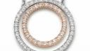 41 58773 511 | Collier/ Doppelter Ring 20mm / 0,61ct | Lieferbar in den Legierungen 14kt und 18kt in Gelb / Weiß / Rotgold. Farbkombinationen (z.B. Kette Weiß / Ring Rot o. ä. möglich!)