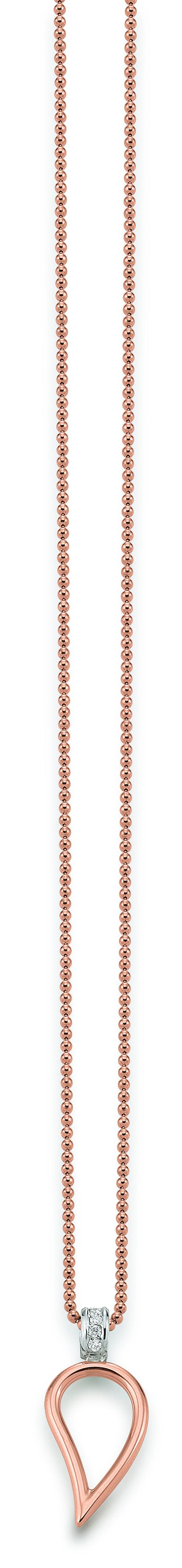 Kette Rose Gold 585 | 750 Anhänger Weiß Rose 585 | 750 mit Brillanten