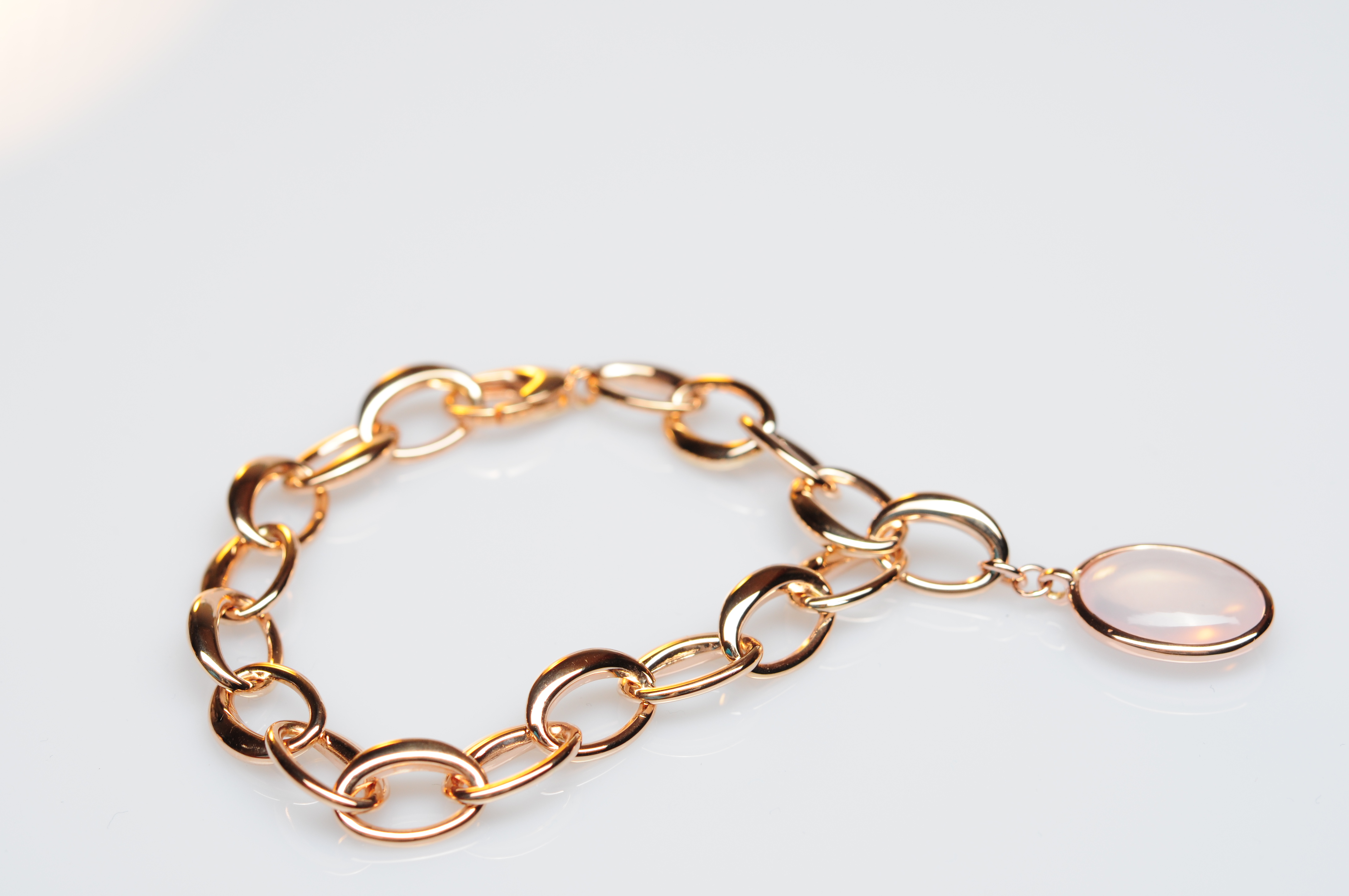 Armband Rose Gold 585 | 750 mit Rosaquarz