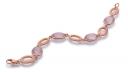 Armband Rose Gold satiniert 585   750 mit Rosaquarz