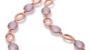Collier Rose Gold satiniert 585   750 mit Rosaquarz