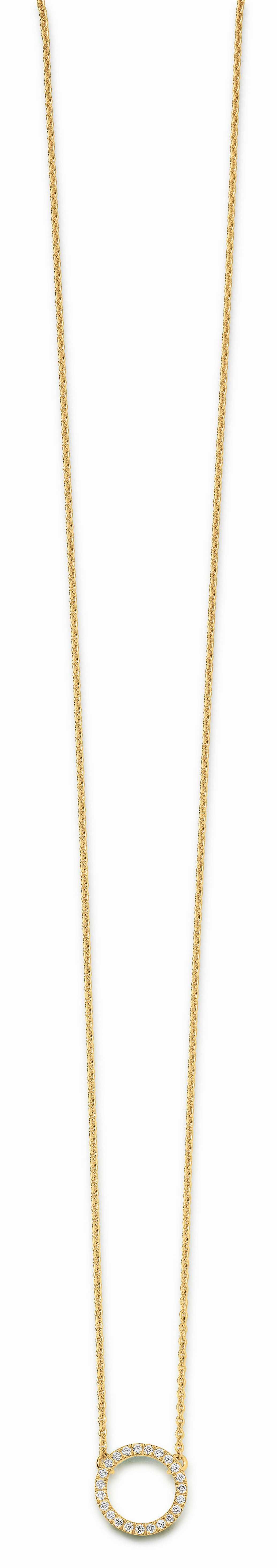 41 6525 081 | Collier/ Kleiner Ring 10mm/ 0,12ct | Lieferbar in den Legierungen 14kt und 18kt in Gelb / Weiß / Rotgold. Farbkombinationen (z.B. Kette Weiß / Ring Rot o. ä. möglich!)
