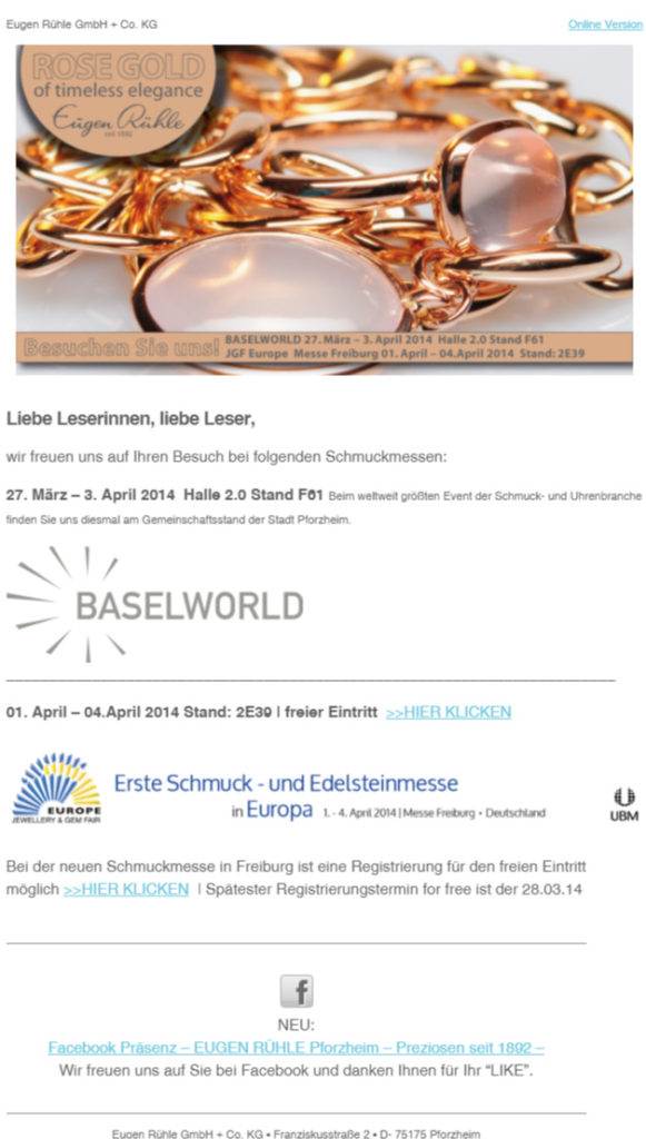 Eugen-Rühle-Newsletter-Baselworld-JEWELLERY-&-GEM-FAIR-FREIBURG