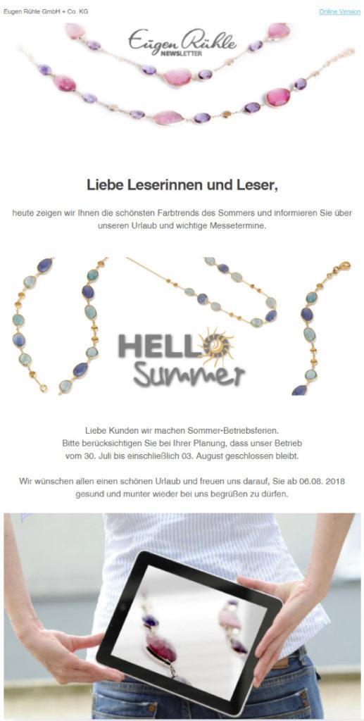 Eugen-Rühle-Newsletter-Summer-Holiday-2018